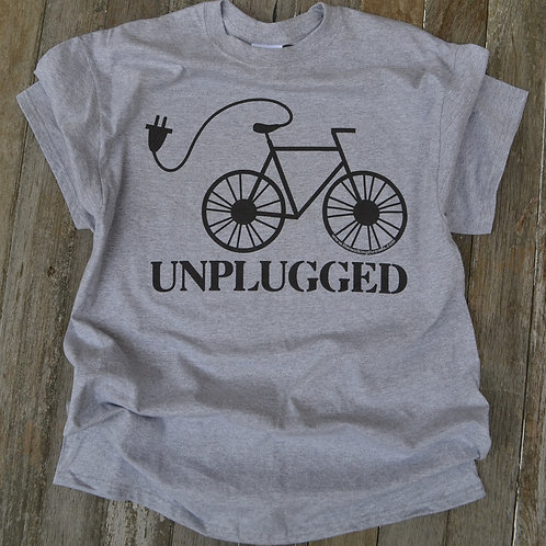 Unplugged Bicycle T-Shirt