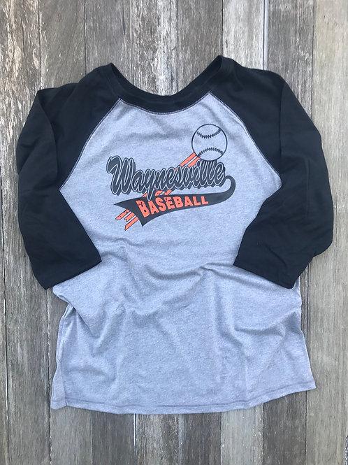 3/4 Sleeve Ladies Jr Cut Style Raglan Baseball