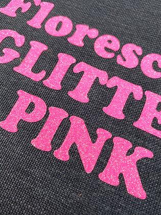 """Glitter Flake™ HTV Flourescent Pink SHORT SHEETS 12""""x15"""""""