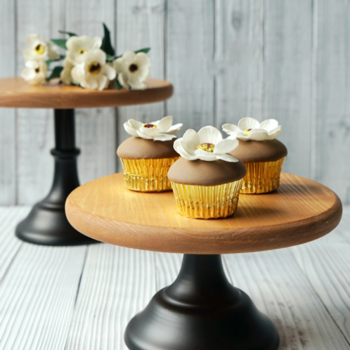 Rustic Wood Cake Stands (Set of 3)
