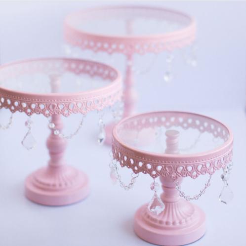 White Elegant Cake Stands (Set of 3)