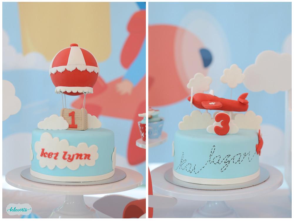 Travel Theme Fondant Cakes