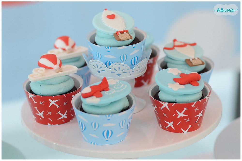 Travel Theme Fondant Cupcakes
