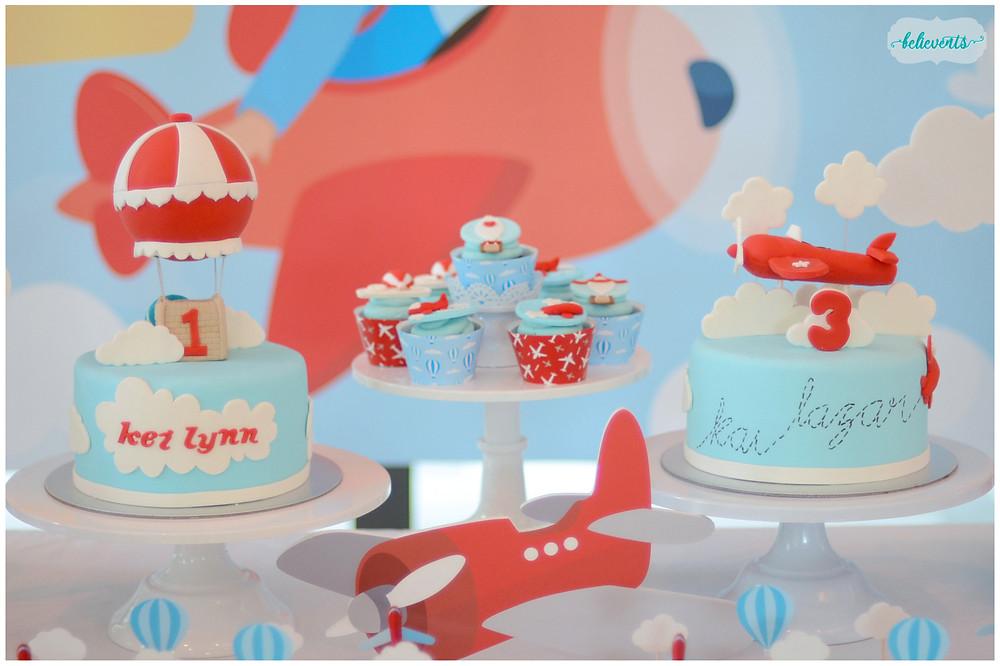 Travel Theme Fondant Cake and Cupcakes