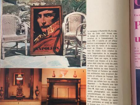 ELLE MAGAZINE 1969     La Suite Empire à l'occasion du bi-centenaire de la naissance de l'Empereur.