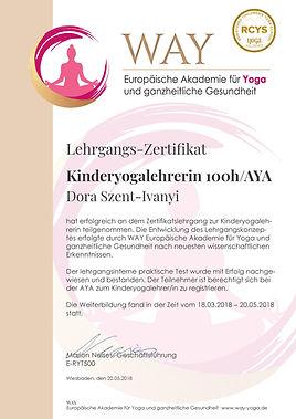 Zertifizierung 100h KiYo Szent-Ivanyi-pa