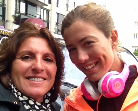 With Garbiñe Muguruza