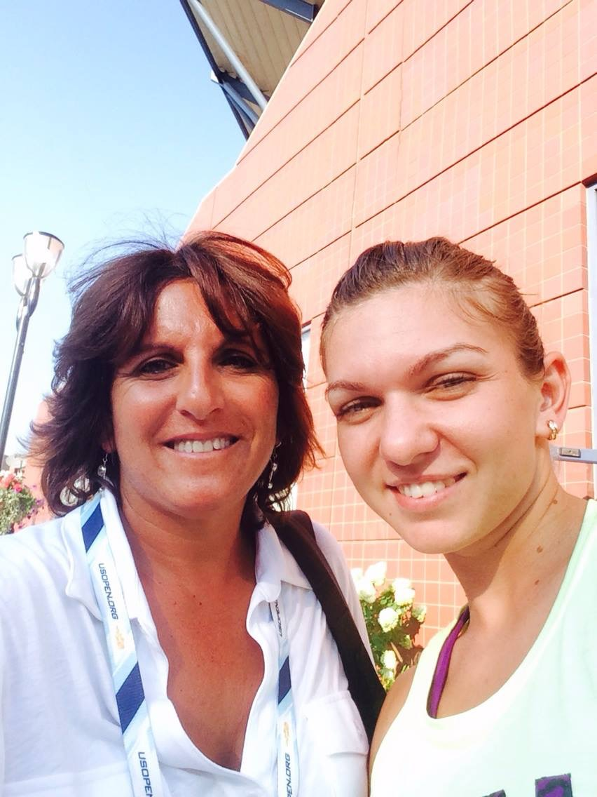 Sophie with Simona Halep