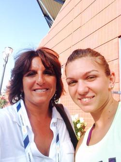 Sophie with Simona Halep