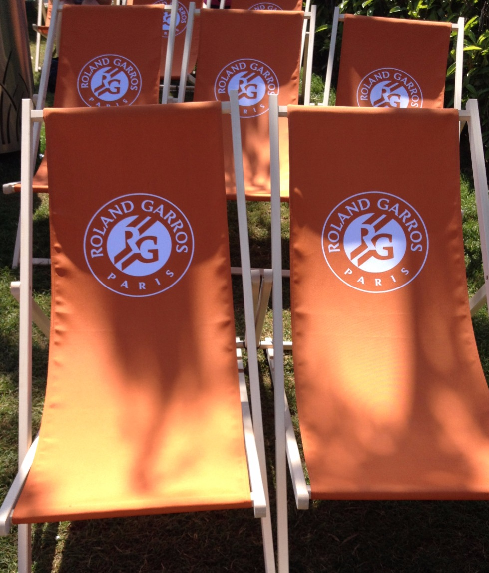 Lounge chairs at Roland Garros