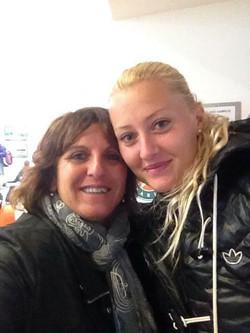 Sophie with Kristina Mladenovic