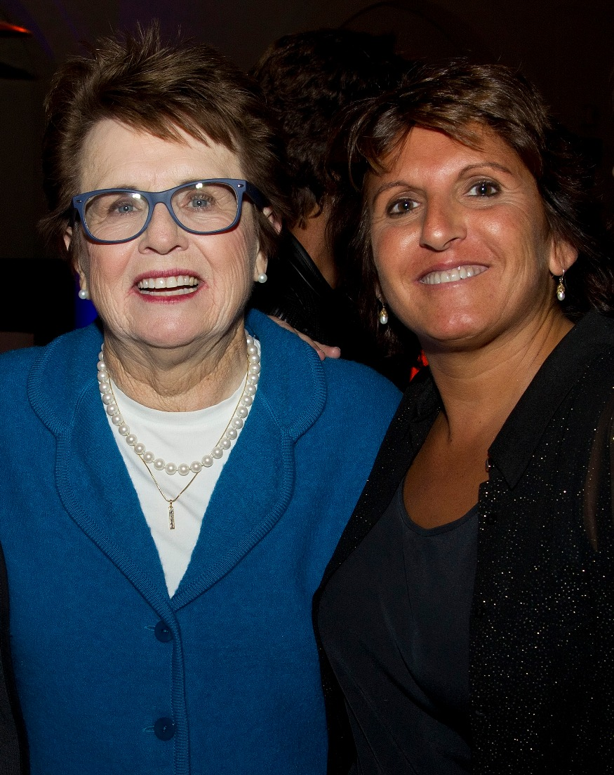 Sophie with Billie Jean King
