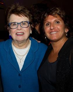Sophie with Billie Jean King