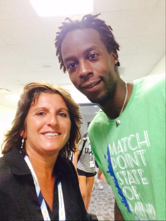 Sophie with Gaël Monfils