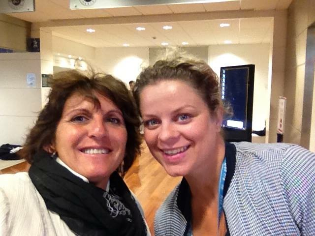 Sophie with Kim Clijsters