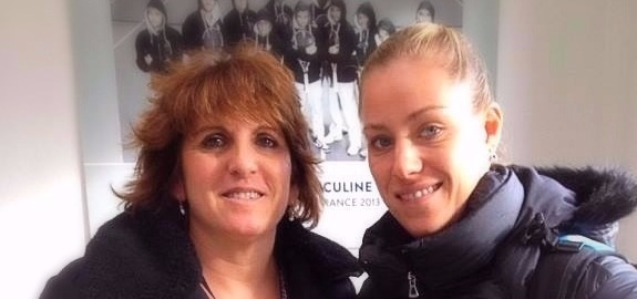 Sophie with Angelique Kerber