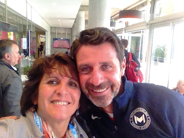 Sophie with P. Mouratoglou