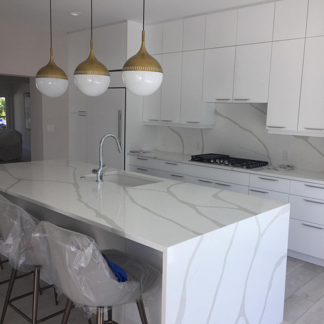 Gloss white cabinets
