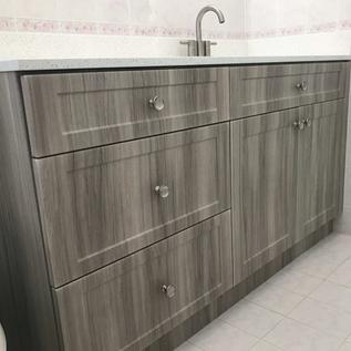 Custom Gray Bathroom Vanity