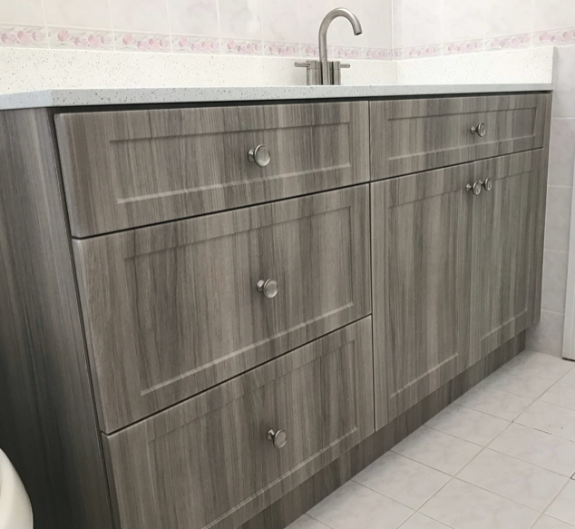 Custom Gray Bathroom Vanity