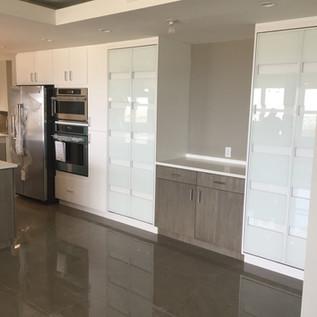 Modern high-gloss kitchen