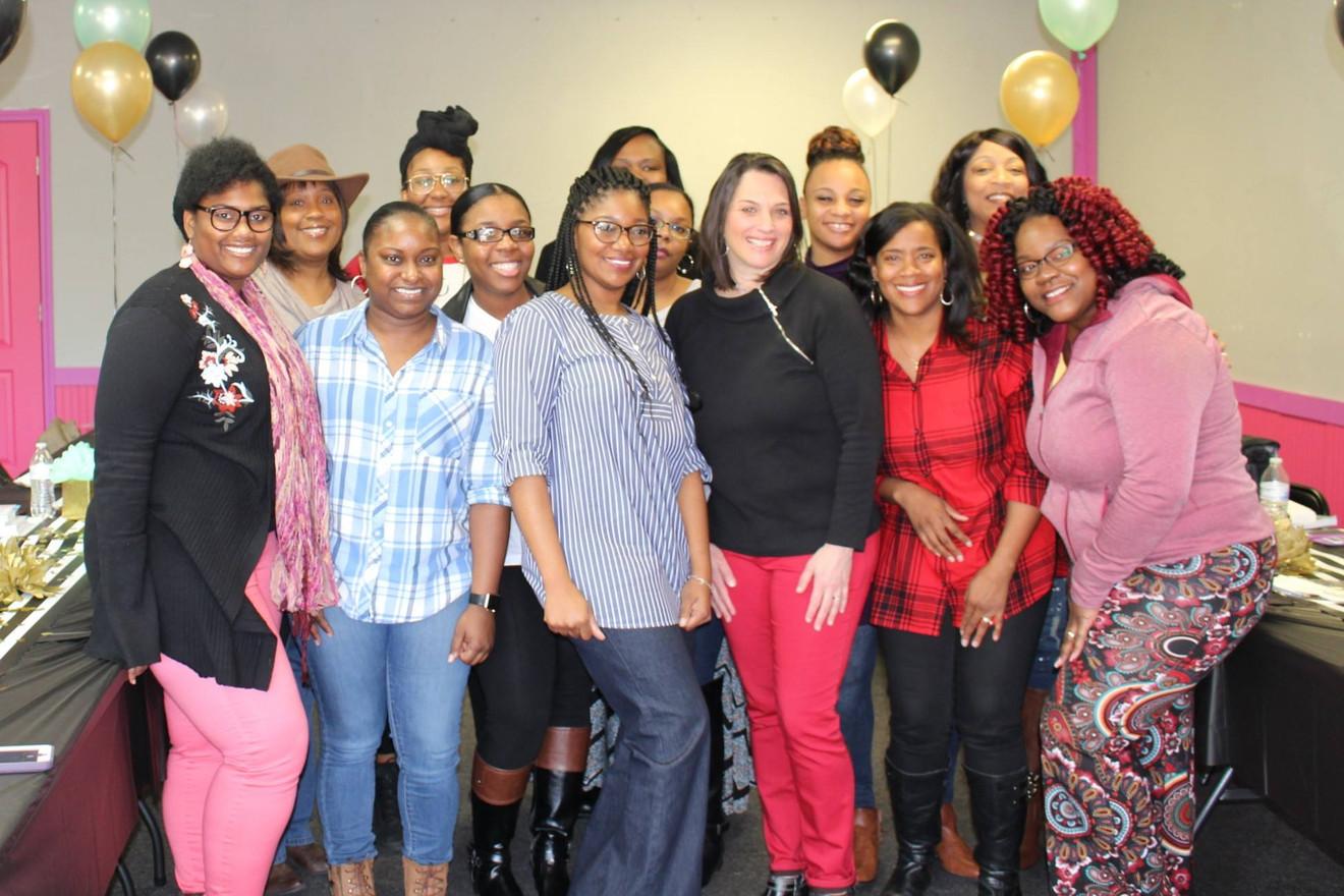 Jennifer Rash with the women of the King's Worship Center