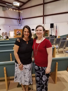 Jennifer Rash getting ready to minister to the women of Clifton Church of God