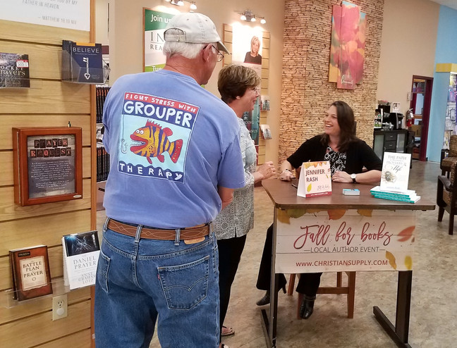 Book signing at Christian Supply in Spartanburg, SC