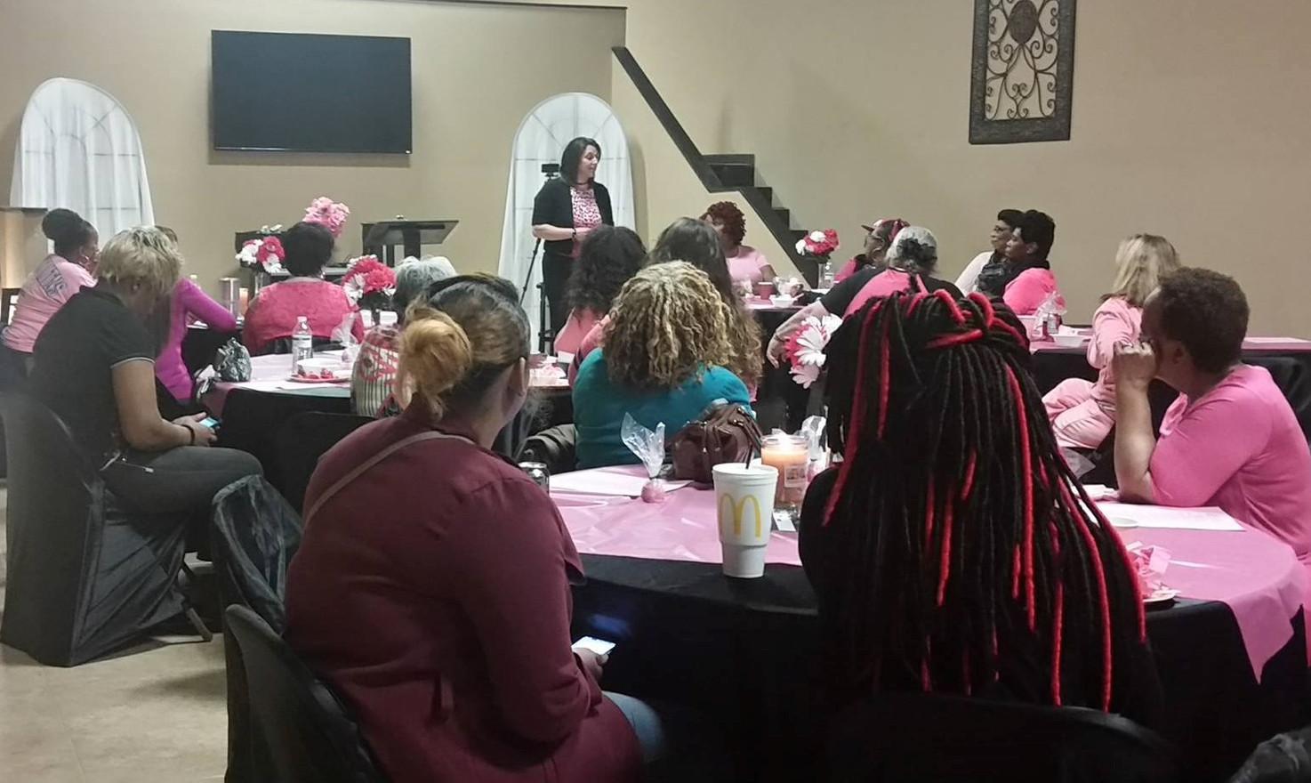 Jennifer Rash speaking at New Life Deliverance Worship Center in Spartanburg, SC