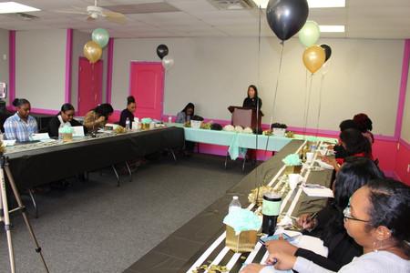 Jennifer Rash speaking at the King's Worship Center in Simpsonville, SC