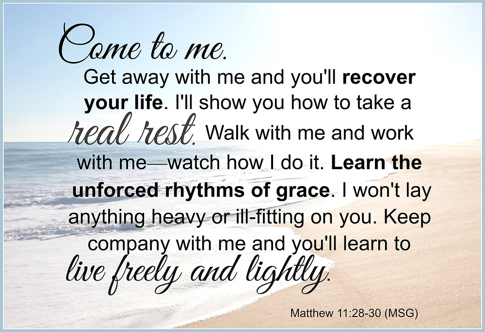 Help for the Weary Woman, Learning to take a Real Rest, God's remedy