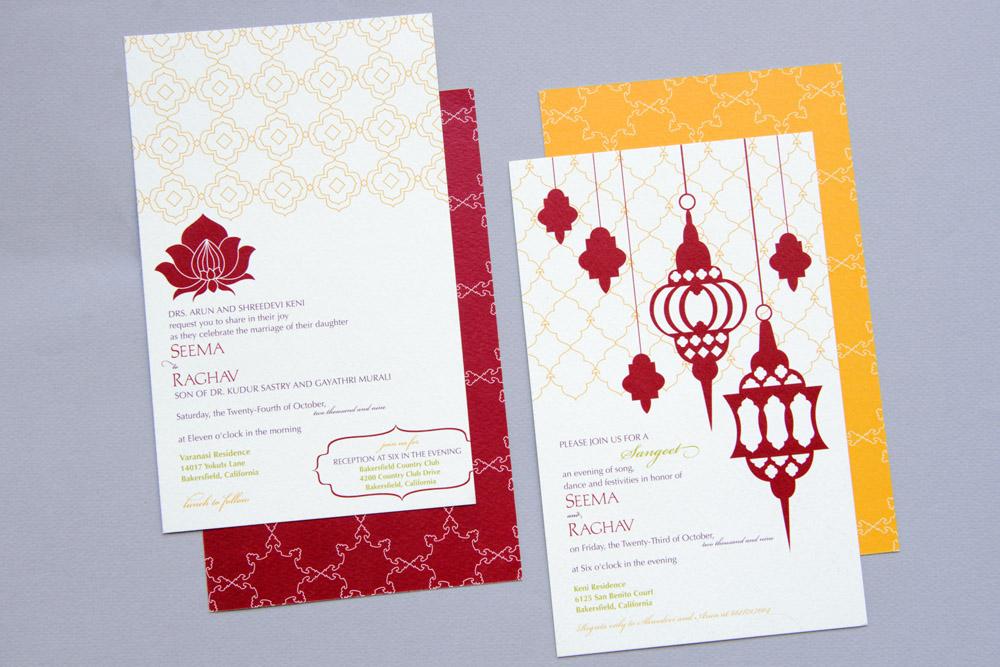 Wedding suite cards
