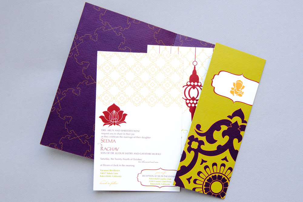 Wedding suite folder and cards