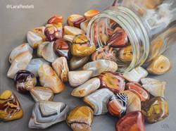"""""""Agates in a jar"""""""