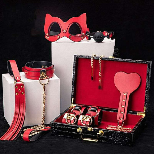 SET BDSM RED LUXURY