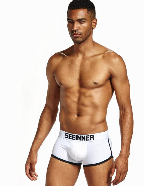 Boxer Relleno Trasero y Frontal Blanco