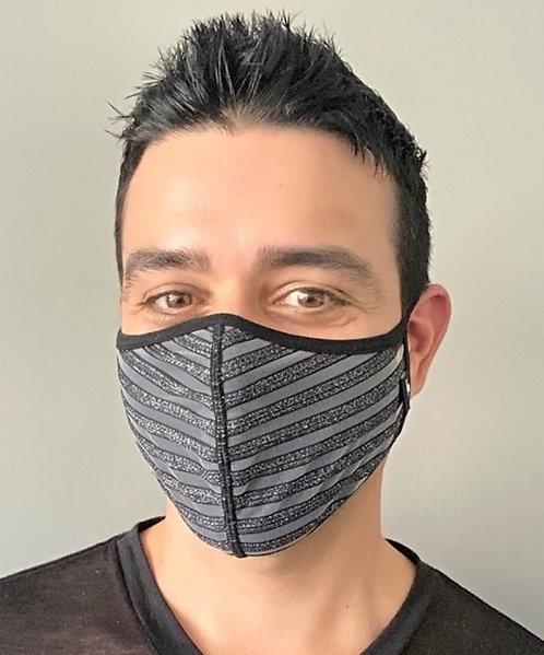 Glitter Sheer Stripe Mask