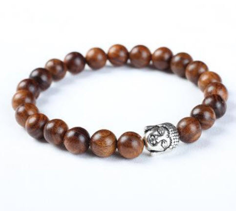 Brazalete Buda Wood beads