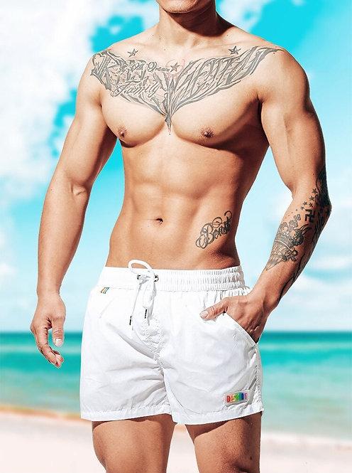 Pantaloneta Desmiit Arcoiris Blanco