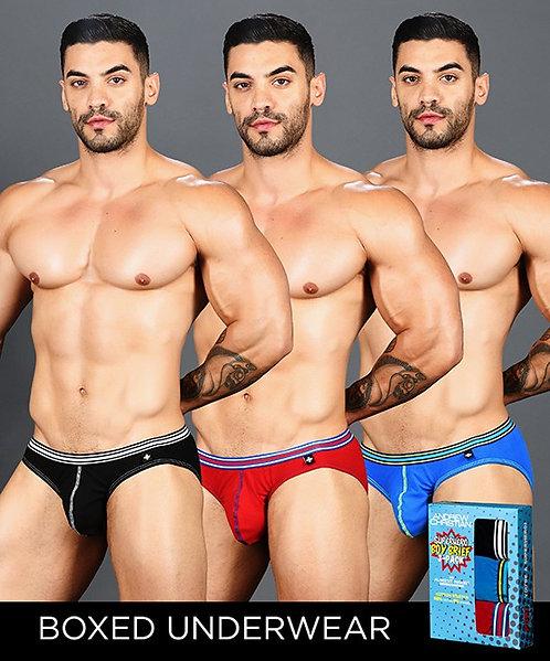 Boy Brief Superhero 3-Pack w/ Almost Naked