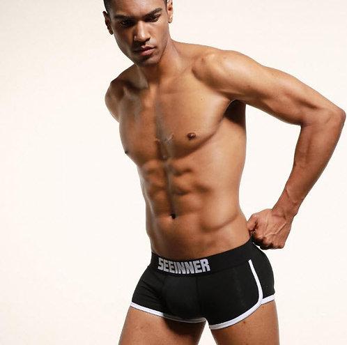 Boxer Relleno Trasero y Frontal Negro