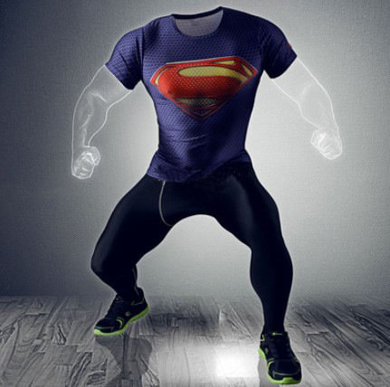 CAMISETA DEPORTIVA slim fit SUPERMAN