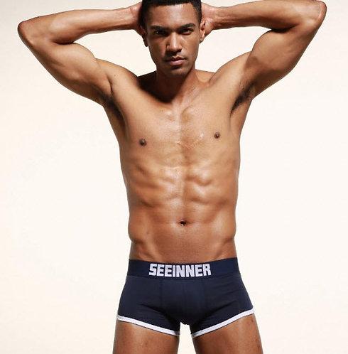 Boxer Relleno Trasero y Frontal Azul