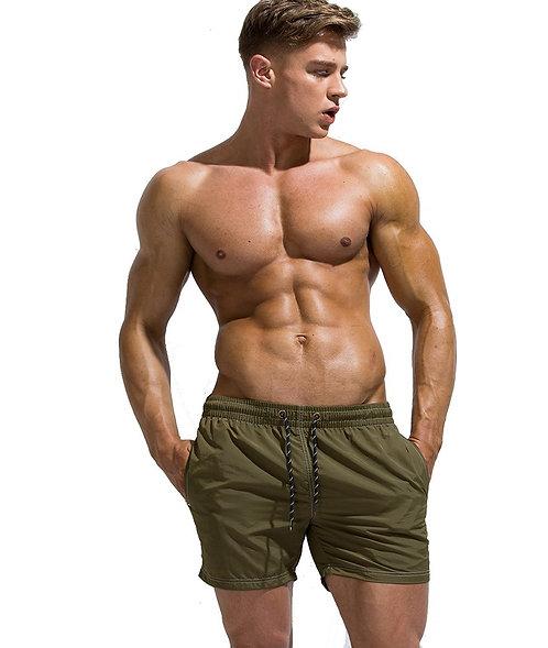 Pantaloneta Pocket Gym Aceituna