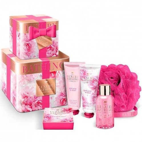 The Luxury Bathing Pink box ( Pink Peony & Vetiver )