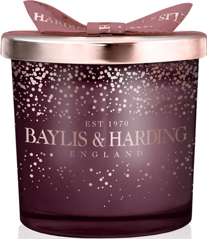 BAYLIS & HARDING MIDNIGHT PLUM & WILD BLACKBURRY  CANDLE
