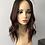 """Thumbnail: TCP7986: 6x7 16-17"""" natural dark brown with deep red balayage"""