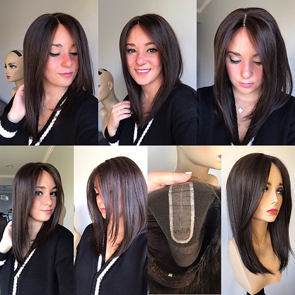 """Wig sample 18"""" dark brown S"""