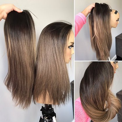 """PONY TOPPER light Lexie with darker root added 20 and 24"""""""