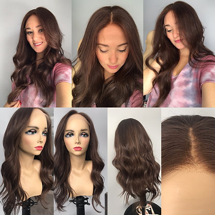 "HWLT: LACE TOP FULL WIG 25"" - WARM MEDIUM BROWN - M CAP"